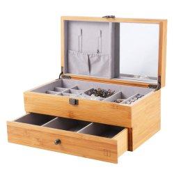 2020 Nuevo diseño de moda de joyería de bambú Caja de almacenamiento