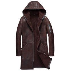 OEM высшего качества мужчин натуральная кожа мех Sheepskin Shearling одежду