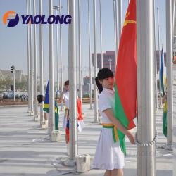 Material de Construção durável Motored eléctrico AISI 304/304L/316L Square Exibir pólo bandeira Flagpole Vertical Exterior de instalação para venda