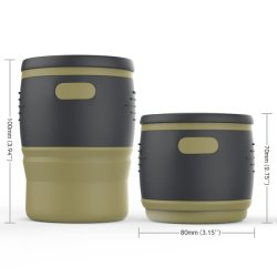 Amazonas-zusammenklappbare Silikon-Cup-Kaffeetasse 350ml