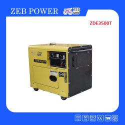 3kVA無声タイプ携帯用ディーゼル発電機(ZDE3500T)