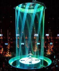 Etapa digital de música de baile de cortina de agua fuente de agua
