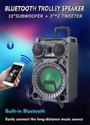 이동할 수 있는 Bluetooth 스피커 10 인치 저음 스피커 옥외 무선 힘 건전지