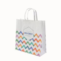 Офсетной печати нестандартного формата бумаги с логотипом подарочный пакет Luxury упаковки с ручкой