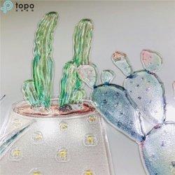 배경 벽 훈장 (MR-YB6-2052E)를 위한 예술 거는 유리제 색칠