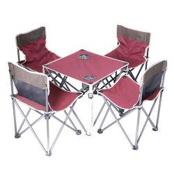 Tabella di campeggio piegante del Portable con l'insieme del vestito delle Tabelle e delle presidenze dei supporti di tazza