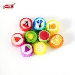 Caramella duro affettata dura Handmade di sapore della frutta di Emoji di immaginazione del Lollipop di figura rotonda di disegno del fornitore della Cina nuova