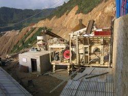 装置の移動式粉砕機の機械工場の供給を押しつぶす中国石