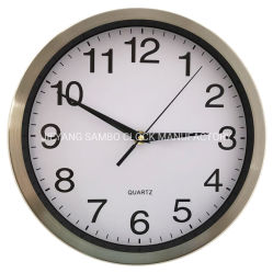 10-дюймовый 25см алюминиевый корпус из нержавеющей Steell металлической стенки часы производителя
