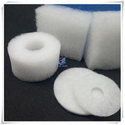 Белый разрез формы полиэфирных волокон фильтра зубную нить