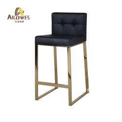 居間の金属棒の家具PUのシートのポーランド人のステンレス鋼棒高い腰掛けの椅子