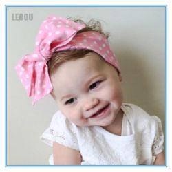De hete Hoofdband van de Knoop van het Meisje van de Baby van de Toebehoren van het Haar van de Verkoop Bloemen Afgedrukte