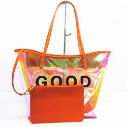 2020 borse all'ingrosso trasparenti di plastica A8147 della gelatina del Tote di Guangzhou del sacchetto di spalla del nuovo distributore alla moda