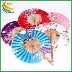 Летом горячая продажа оптовой высокое качество японских раунда бамбук вентилятор тканью ветряной мельницы складывания правой электровентилятора системы охлаждения двигателя