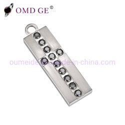 Retângulo de moda 316L de aço inoxidável pendentes para os homens o colar da