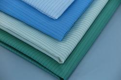 Tecidos de seda ESD poliéster tecido antiestático 0,5 Strip para salas brancas