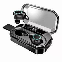 Control táctil de alta calidad X6 de Tws Bt 5.0 resistente al agua IPX6 de 3000mAh de Tws 5.0 Los auriculares inalámbricos auriculares con micrófono para Iphonex