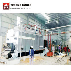 Madeira caldeira de vapor da casca de arroz para a Indústria Têxtil