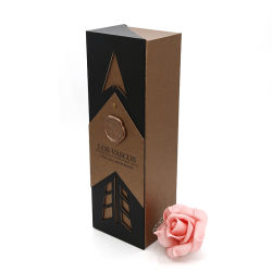 Papier de luxe en cuir personnalisé Fancy vin rigide Emballage avec fermeture Insérer