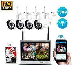 "4 draadloze WiFi kabeltelevisie Cameras met 12 "" LCD NVR System Kits"