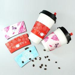 Manicotto su ordinazione della tazza di caffè della carta kraft della stampa di marchio