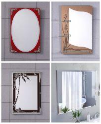 アルミニウムSiverのホーム装飾フレームのFramelessの壁の浴室ミラー