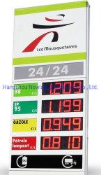 Gas-Kraftstoff-Preis-Wechsler-Zeichen-Bildschirmanzeige 6 Zoll-LED