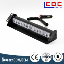 12W 12V 24V LED 대시 갑판 호박색 스트로브 경고등