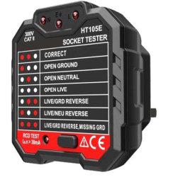 GFCI 콘센트 테스터 48-250V 전원 소켓 자동 전기 회로 극성 전압 검출기 소켓 테스터