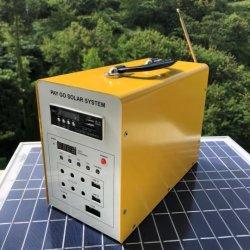 Оплата по мере Портативные комплекты солнечной энергии постоянного тока 30W Солнечная система освещения с помощью пульта дистанционного управления/ клавиатуры/SIM-карты