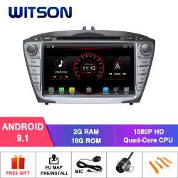 Processeurs quatre coeurs Witson Android 9.1 lecteur de DVD de voiture pour Hyundai IX35/Tucson construit en fonction OBD