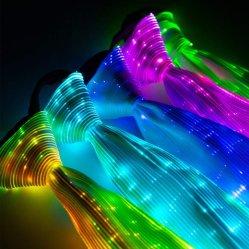Luz de LED de fibra óptica de retenção do pescoço traje novidade luminosa