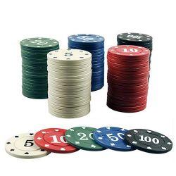 デジタルチップ催し物のゲームトークンビンゴチップトランプゲームのアクセサリによって囲まれる100PCSポーカー用のチップの透過プラスチック