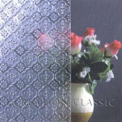 Bronce 4mm Karatachi patrón / Vidrio/cristal grabado la figura