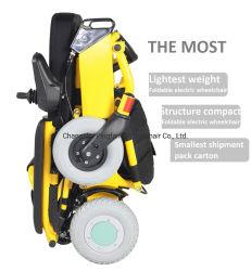 Aluminium-ultra heller Mobilitäts-Roller-Falten-elektrischer Strom-Rollstuhl mit der Armlehne Liftable für behindertes Ce& ISO13485, ISO9001