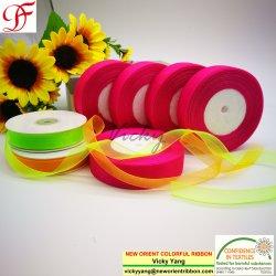 Usine/Commerce de gros/OEM/imprimés /Customzied 100 % nylon Pure ORGANZA RIBBON Forwrapping/décoration/Noël/Vêtements