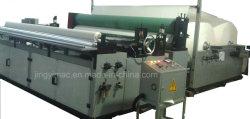 Semi-automatique de rouleaux de papier de toilette rembobinage de la machine et de perforation