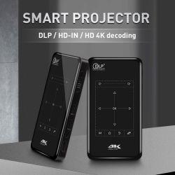 Commande tactile projecteur Pico Pocket DLP 100 Lumen 7.1 Android OS 1080P Potablet Taille Mini HDMI/Support WiFi/Écran miroir/USB/TF carte