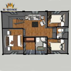 4 case della costruzione prefabbricata della camera da letto