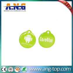 Round 13,56 NFC Tag cristal époxy pour paiement par téléphone mobile