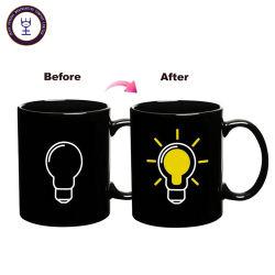 Изменение цвета лампы 330 мл керамические Magic смешные кружки для питьевой