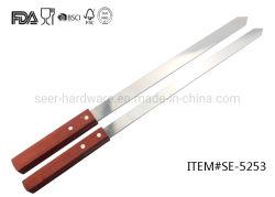 """14"""" длинной деревянной ручкой вилки барбекю из нержавеющей стали (SE-5253)"""