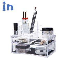 Commerce de gros clair grand organisateur de maquillage beauté cube acrylique Boîte de rangement