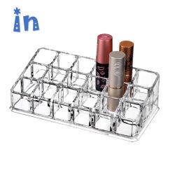 명확한 메이크업 저장 장식용 조직자 18 구멍 아크릴 립스틱 전시