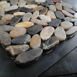 De gesneden Vlakke Tegel van het Mozaïek van de Steen van de Kiezelsteen van de Rivier Marmeren