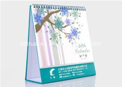 De aangepaste Kalender Van uitstekende kwaliteit van het Bureau van de Tribune van de Druk van het Ontwerp van de Kalender van de Lijst Goedkope Creatieve