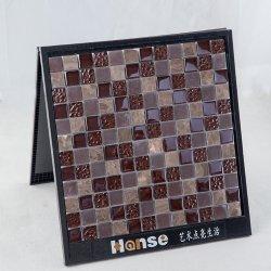 300x300mm verre avec mosaïque de marbre marron Sol de douche