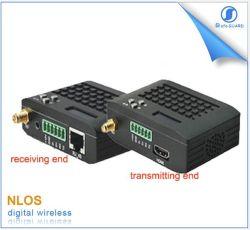Datos de microondas enlace de vídeo de 10 km de largo alcance sobre Uav HDMI Trasnceiver retardo cero