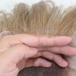 Lm001 silicium antiglisse Mono haut de page et de la Dentelle perruque de cheveux synthétiques médical avant