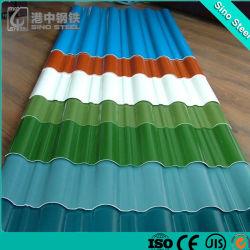 Revêtement de zinc de la plaque de carton ondulé/ Feuille de toiture en acier galvanisé /carte du panneau de toit en aluminium /Gi/PPGI/PPGL/PVC feuille feuille de carton ondulé en acier